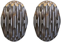 pair of maison charles honeycomb sconces, france, circa 1968 by maison charles