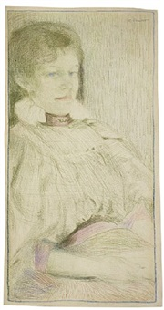 portrait of rosa suter by cuno amiet