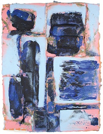 parallel play: blues by arlene shechet