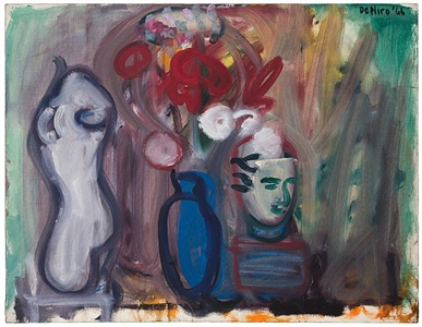 flowers in a blue vase by robert de niro, sr.