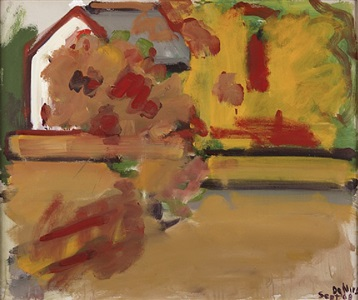 autumn landscape with house by robert de niro, sr.