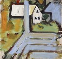 white building from blue porch by robert de niro, sr.