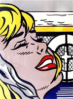 ship board girl by roy lichtenstein