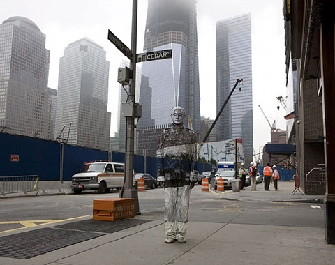 hiding in new york no. 4 -ground zero by liu bolin
