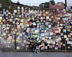 hiding in new york no. 5 - tiles for america by liu bolin