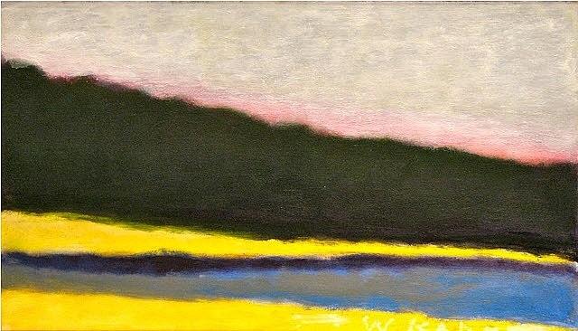 yellow shoreline by wolf kahn