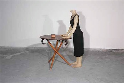 behind your eyelids (with table) by julião sarmento