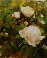 garden peonies (sold) by kathy anderson