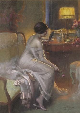junge dame im boudoir by delphin enjolras