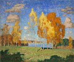 last rays of summer by konstantin ivanovich gorbatov