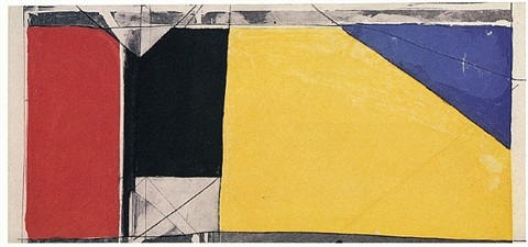 folsom street variations iii (primaries) by richard diebenkorn