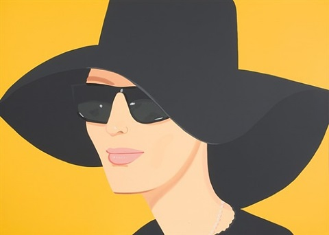 ulla in black hat by alex katz