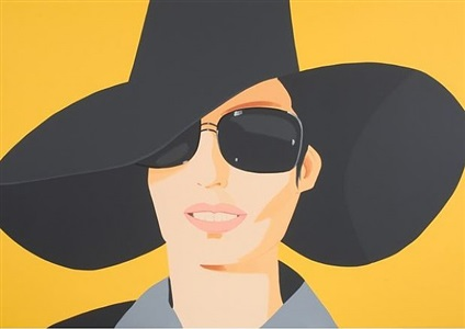 vivien in black hat by alex katz