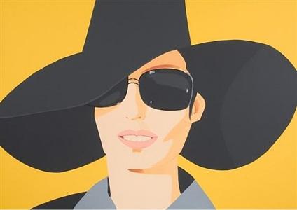 vivien in black hat by alex katz
