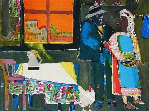 autumn of the rooster by romare bearden