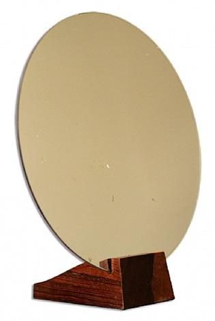 extremely rare art deco mirror by emile-jaques ruhlmann and jules deroubaix
