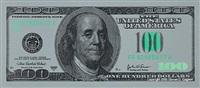 $100 bill on stainless steel by steven gagnon