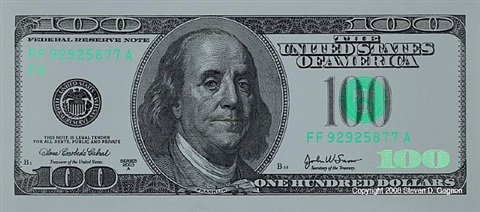 $100 bill on stainless steel by steven gagnon