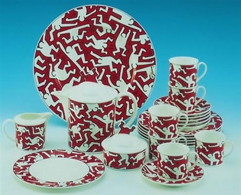 tea service by keith haring