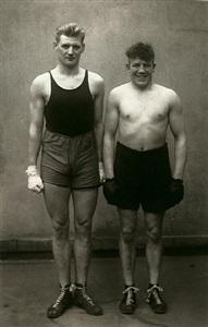 boxers, paul röderstein and hein hesse, cologne by august sander