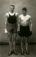 boxers, paul röderstein and hein hesse, cologne by august sander