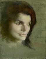 study for the portrait of mrs. john f. kennedy by aaron shikler