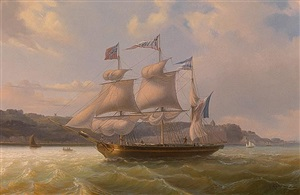 in full sail by louis-honore-frederic gamain