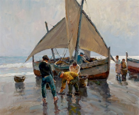 pescadores a la mañana by anthony thieme