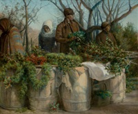 selling christmas greens by e.h. miller