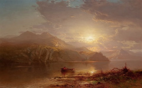 lake scene by arthur parton