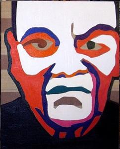 """aus der serie """"alter"""", portrait eines alten (mit weißer stirn) by natalia turnova"""