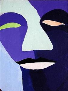 """aus der serie """"neue generation"""", violettes gesicht by natalia turnova"""