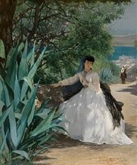 lover's walk by gustave léonhard de jonghe
