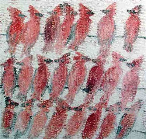 cardinals by hunt slonem