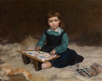 the little watercolourist by maurice leloir