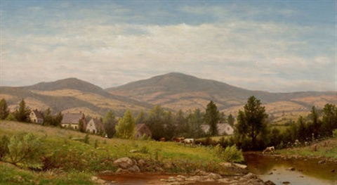 view near williamstown berkshire county massachusetts by charles wilson knapp