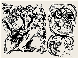 untitled, cr1096 (after painting number 27, cr328) by jackson pollock