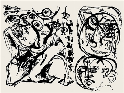 jackson pollock, graphic work intaglios and screenprints by jackson pollock