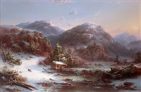 winter in the mountains (winter in the adirondacks) by régis françois gignoux