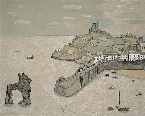 tenby harbour by lucian freud