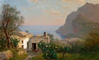 capri landscape by william stanley haseltine