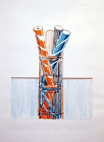 "glassed candy, from the ""presidential portfolio"" by wayne thiebaud"
