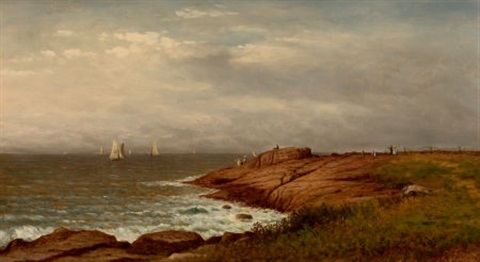 along the shore narragansett by charles wilson knapp