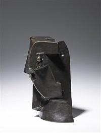 woman's head (cubist head) by otto gutfreund
