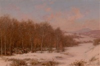 a winter camp (sugaring off, vermont) by jervis mcentee