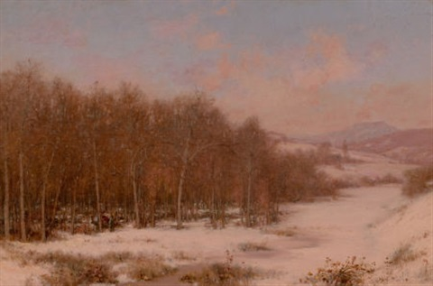 a winter camp sugaring off vermont by jervis mcentee