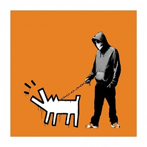 orange by banksy