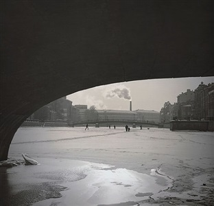 untitled (under bridge on canal) by alexey titarenko