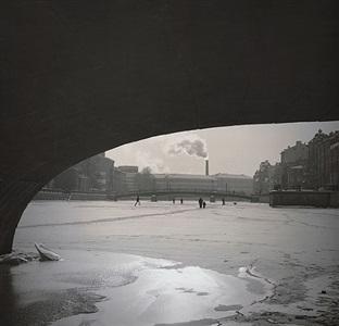 untitled (under bridge on canal) by alexey titarenko