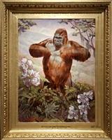 gorille de la savane by mark beard
